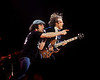 SAN FRANCISCO, CA-FEBRUARY 16: Brian Johnson (L) and Angus Young (R) performing with AC/DC at the Cow Palace in San Francisco on February 16, 1982. (Photo by Clayton Call/Redferns)