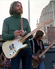 """Skip Spence """"performing"""" with Moby Grape at San Francisco Civic Center Plaza in February 1978."""