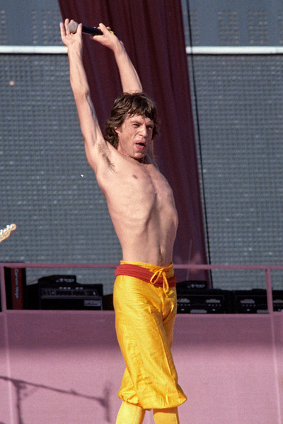 Mick Jagger and the Rolling Stones perform at Candlestick Park in San Francisco on October 17, 1981.