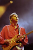 Mark Knopfler and Dire Straits perform at the Oakland Coliseum on February 2, 1992.