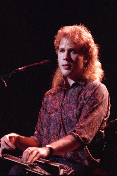 Jeff Healey performing live at the Fillmore Auditorium on March 8, 1989.