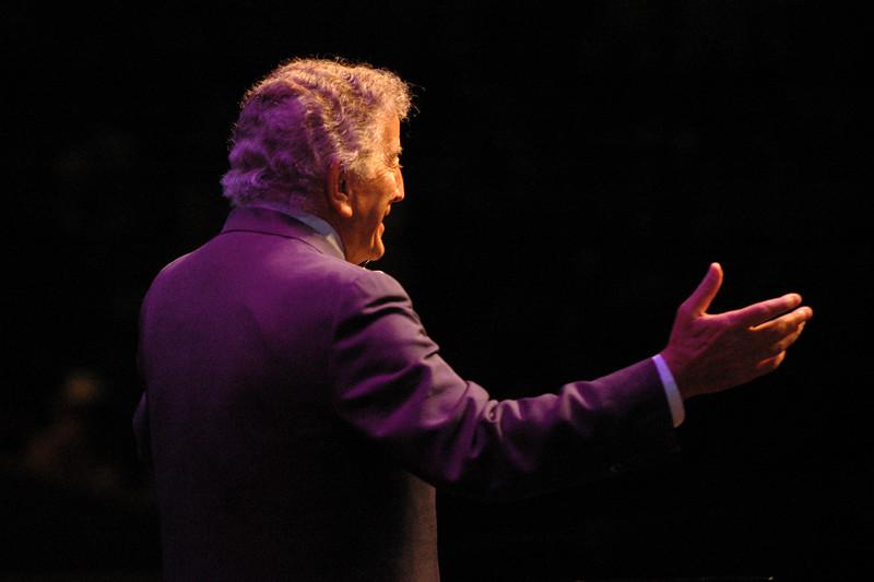 Tony Bennett performs at the Monterey Jazz Festival on 9-17-05.