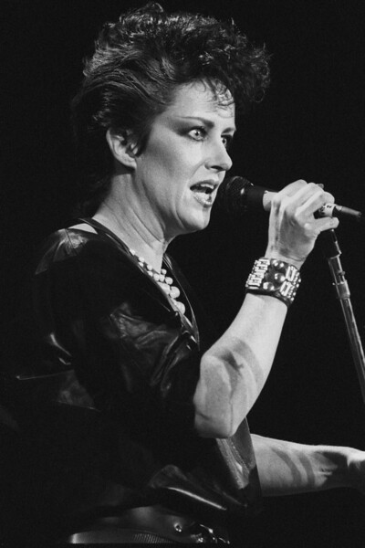 Grace Slick performing at the Bay Area Music Awards (BAMMIES) at the San Francisco Civic Center on March 2, 1984.