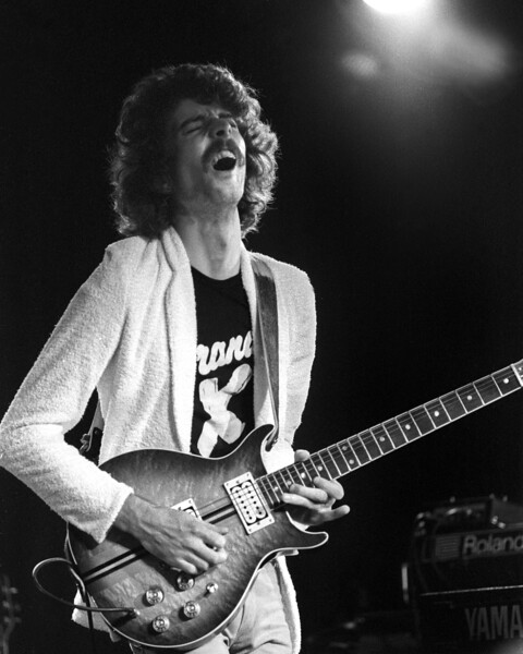 John Goodsall with Brand X at the Old Waldorf in San Francisco on April 9, 1979.