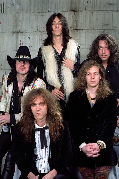 The Black Crowes backstage at the Warfield Theater in San Francisco on June 5, 1991.