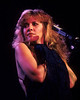 Stevie Nicks performing on her first solo tour at the Oakland Coliseum on December 3, 1981.