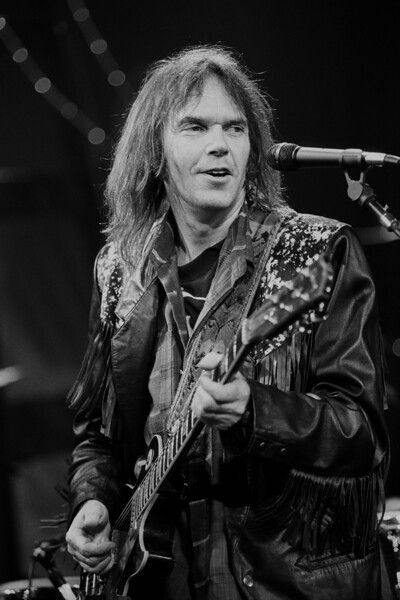 Neil Young performs at the Bay Area Music Awards (Bammies) in San Francisco on March 17, 1990.