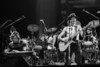 BERKELEY, CA-SEPTEMBER 11: The Doobie Brothers perform at the Greek Theater in Berkeley, CA on September 11, 1982. (L-R: John McFee, Patrick Simmons, Keith Knudsen) (Photo by Clayton Call/Redferns)