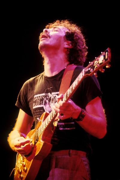 Santana performs at the Kabuki Theater in San Francisco on May 29, 1982.