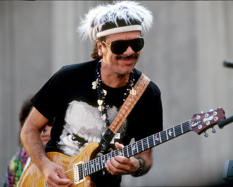 Carlos Santana performs at the Greek Theater in Berkeley, CA on September 8, 1991.