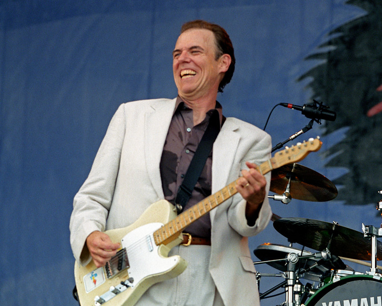 John Hiatt performs at the New Orleans Jazz & Heritage Festival on May 5, 2000.