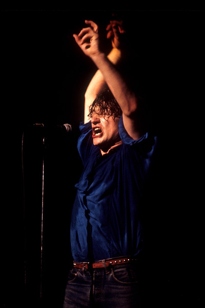 Bono performs with U2 at the Warfield Theater in San Francisco in 1981