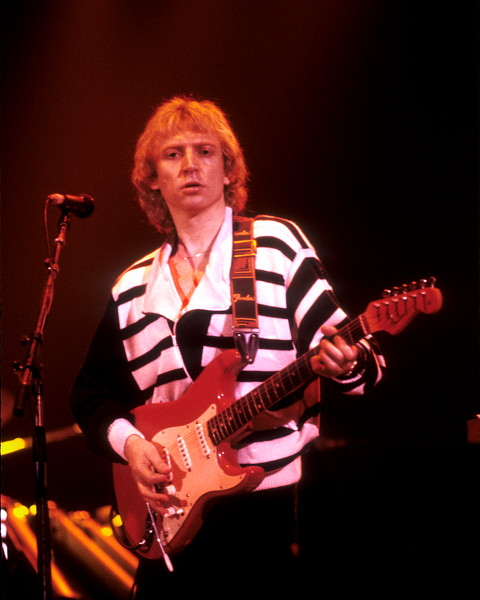 Andy Summers plays with the Police at the Cow Palace in San Francisco on the 1982 world tour