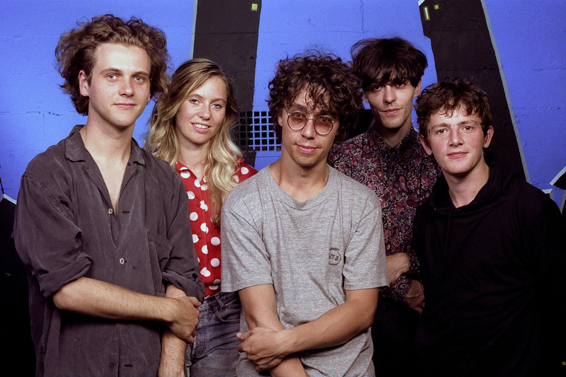 World Party backstage at the Warfield Theater in  San Francisco on September 10, 1990.
