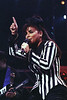 Paula Abdul performs at the Oakland Coliseum in Oakland CA on April 13, <br /> 1991.