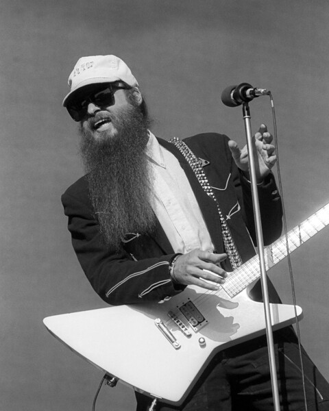 Billy Gibbons performs with ZZ Top at the Mountain Aire Festival at Angel's Camp, CA on July 19, 1986.