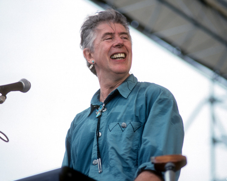 NEW ORLEANS, LA-MAY 3: John Mayall performs at the New Orleans Jazz & Heritage Festival on May 3, 1991. (Photo by Clayton Call/Redferns)