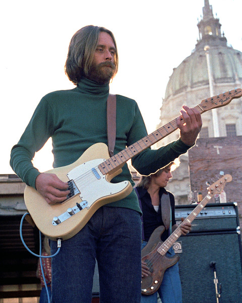 Skip Spence performing with Moby Grape at San Francisco Civic Plaza in February 1978.