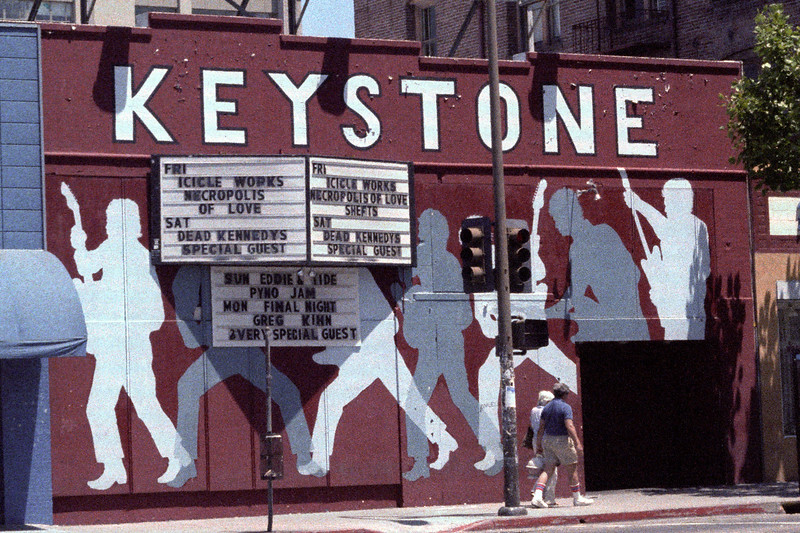 The closing week marquee at the Keystone Berkeley. The legendary Keystone Berkeley club was opened by the owners of San Francisco's famous Keystone Korner jazz club in 1972.  For 12 years until it's closing in 1984 it presented local and world class acts.