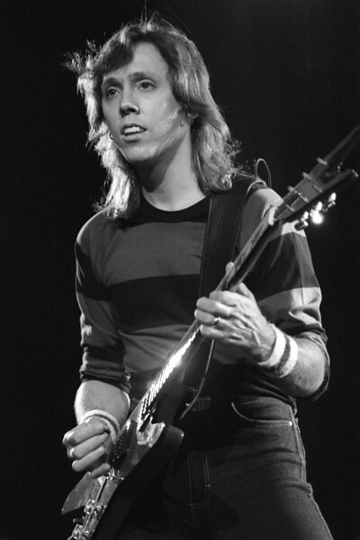 BERKELEY, CA-SEPTEMBER 11:  John McFee performs with the Doobie Brothers at the Greek Theater in Berkeley, CA on September 11, 1982. (Photo by Clayton Call/Redferns)