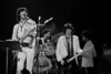 """The New Barbarians perform at the Oakland Coliseum on May 20, 1979. (l-r) Ron Wood, Joseph """"Zigaboo"""" Modelise, Keith Richards, Stanley Clarke."""