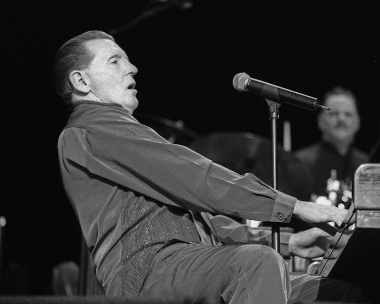 Jerry Lee Lewis performs at the Concord Pavilion in Concord, CA on July 18, 1999.