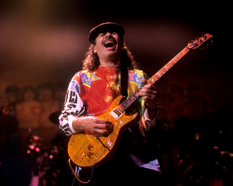 Santana performs at the Bay Area Music Awards on March 6th, 1993.