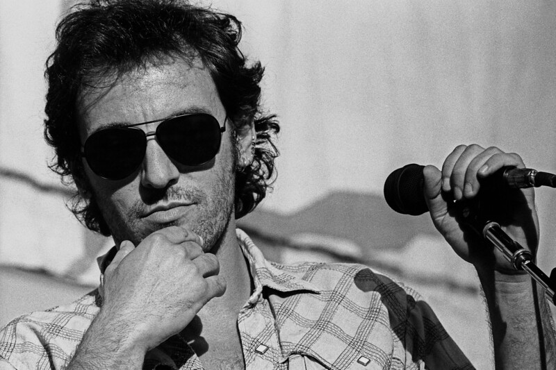 Bruce Springsteen performs at the Amnesty International Concert at the Oakland Coliseum on September 23rd, 1988.