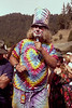 Wavy Gravy (aka: Hugh Romney) performs the duties of Master of Ceremonies at the Electric On The Eel concert at Angels Camp, CA on August 25, 1990.