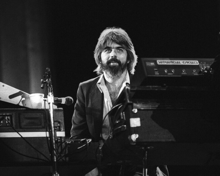 BERKELEY, CA-September 11: Michael McDonald performs with the Doobie Brothers at the Greek Theater in Berkeley, CA on September 11, 1982. (Photo by Clayton Call/Redferns)