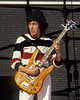 Bill Wyman performing live on stage with the Rolling Stones at Candlestick Park in San Francisco on October 18, 1981.
