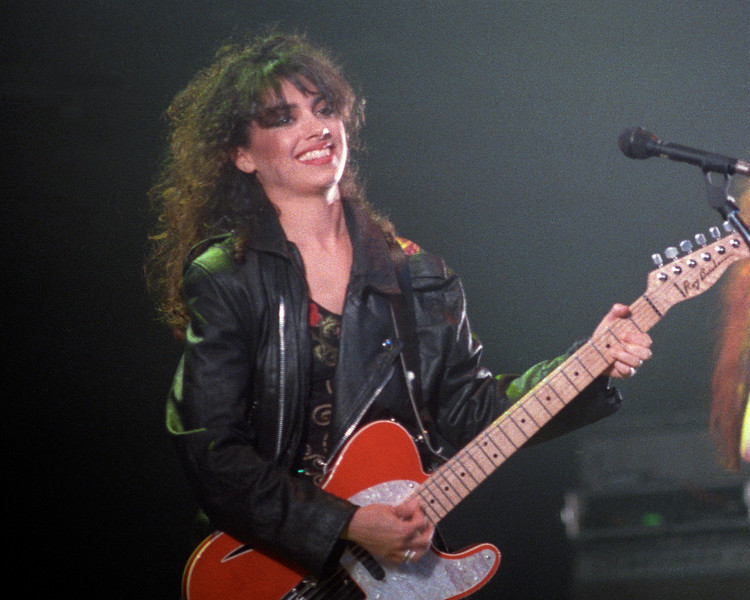 Susanna Hoffs performing with the Bangles at the Warfield Theater in San Francisco on April 17, 1989.