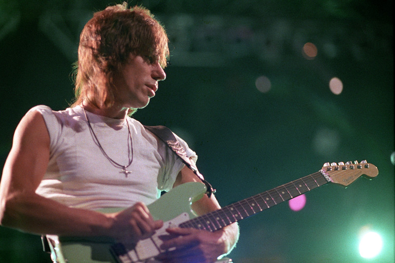 Jeff Beck performs at the Oakland Coliseum on December 3, 1989.