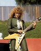 OAKLAND, CA-JULY 4: Nancy Wilson performing with Heart at the Oakland Coliseum Stadum on July 4, 1981. (Photo by Clayton Call/Redferns)