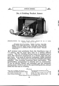 Ad from 1913 Ansco catalog