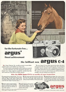 Ad from Popular Photography, June 1951