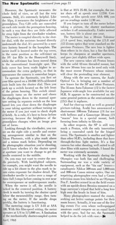 Review from Popular Photography, April 1965