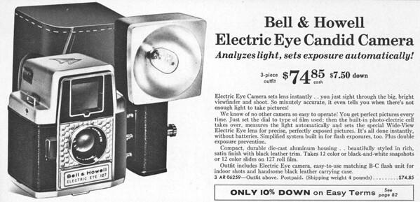 Listing in Sears Camera Catalog, 1959
