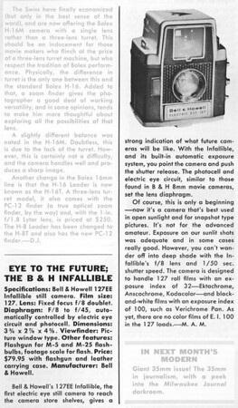 Review from Modern Photography, Jan. 1959
