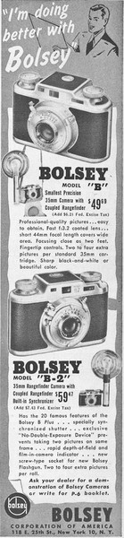 Ad from Popular Photography, June 1949