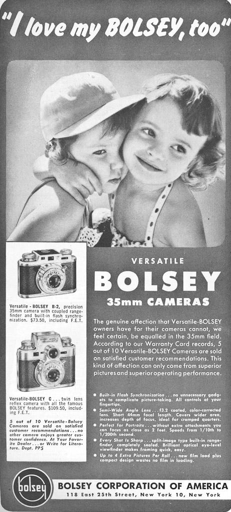 Ad from Popular Photography, May 1951