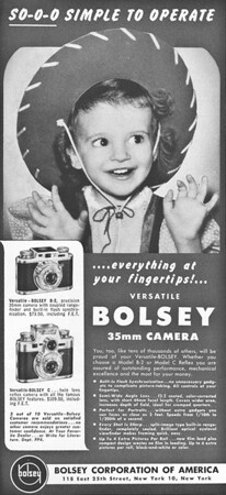 Ad from Popular Photography, April 1951