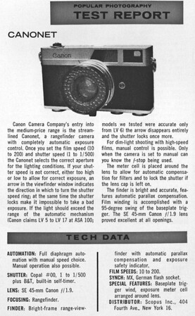 Review from Popular Photography, June 1961