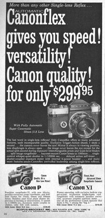 Ad from Popular Photography, January 1960