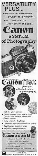 Ad from Popular Photography, Oct 1960