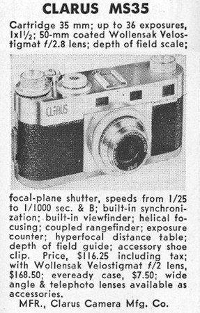 Guide listing from Popular Photography, May 1951