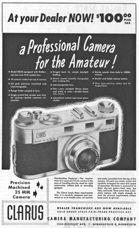 Ad from Popular Photography, June 1947