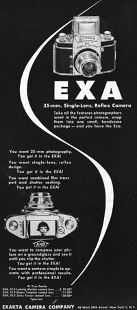 Ad from Popular Photography, Sept. 1951