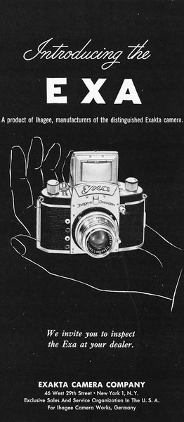 Ad from Popular Photography, August 1951
