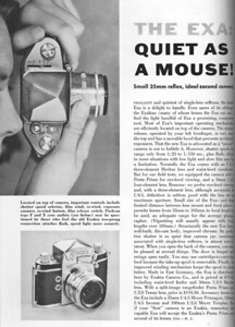 Review From Popular Photography, Feb. 1958 (Exa Type 4)